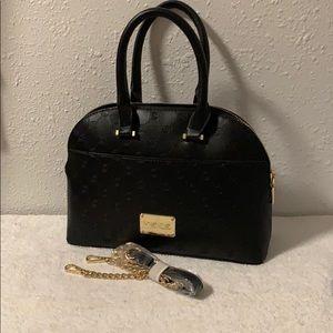 NWT Bebe black Jenna small dome satchel